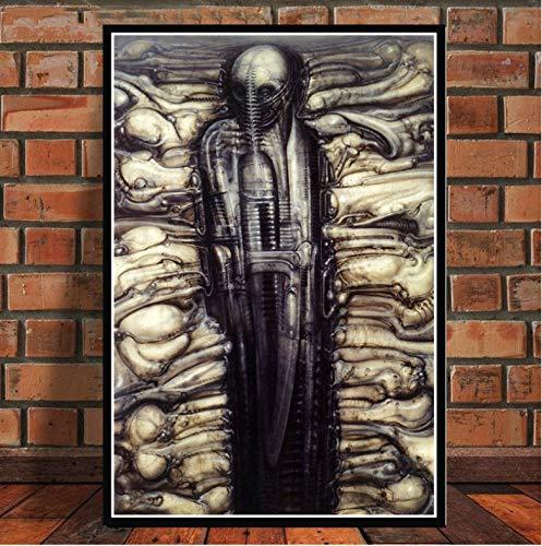 Berühmte Surrealismus Hr Giger Poster Wandkunst Bild Poster Und Drucke Leinwand Malerei Für Room Home Decor 50X70 cm Ohne Rahmen