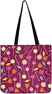 Lollipop Canvas Tote Handbag Shoulder Bag Crossbody Bags Purses For Men And Women Shopping Tote