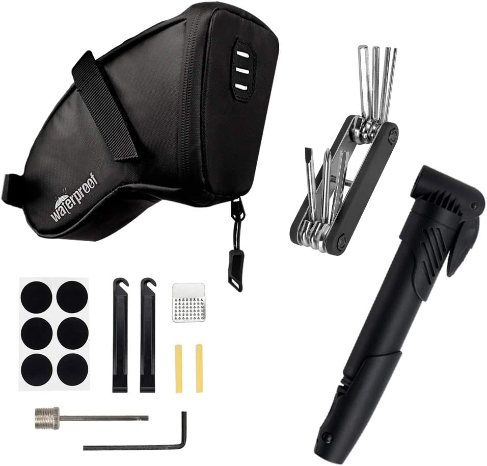 AUTOWT Max 61% OFF Bike Inventory cleanup selling sale Tyre Repair Kits Water-Resistant Bicycle Bag Saddle
