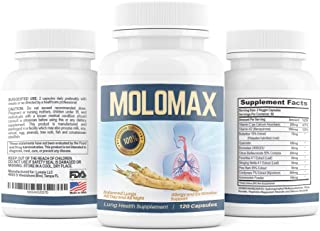 Lung Detox & Cleanse with Horseradish Decongestant Support (120 Pills, 2 Month Supply) Reduces Mucus in Respiratory System, Ex-Smokers, Supports Lung Health for Men & Women, COPD  Includes Vitamin C