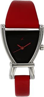Fastrack Women's Fashion-Casual Analog Watch-Quartz Mineral Dial - Multifunction - Leather Strap