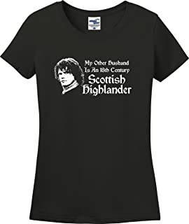 Utopia Sport My Other Husband is an 18th Century Scottish Highlander Funny Ladies T-Shirt (S-3X)