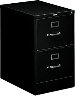"""HON 2-Drawer Filing Cabinet - 510 Series Full-Suspension Legal File Cabinet, 29h by 25d by 18.25w, Black (H512C)"""""""