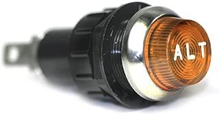 Large Amber Alt Engraved For Alternator Indicator Warning Light Bolts Into A 3/4 Inch Hole