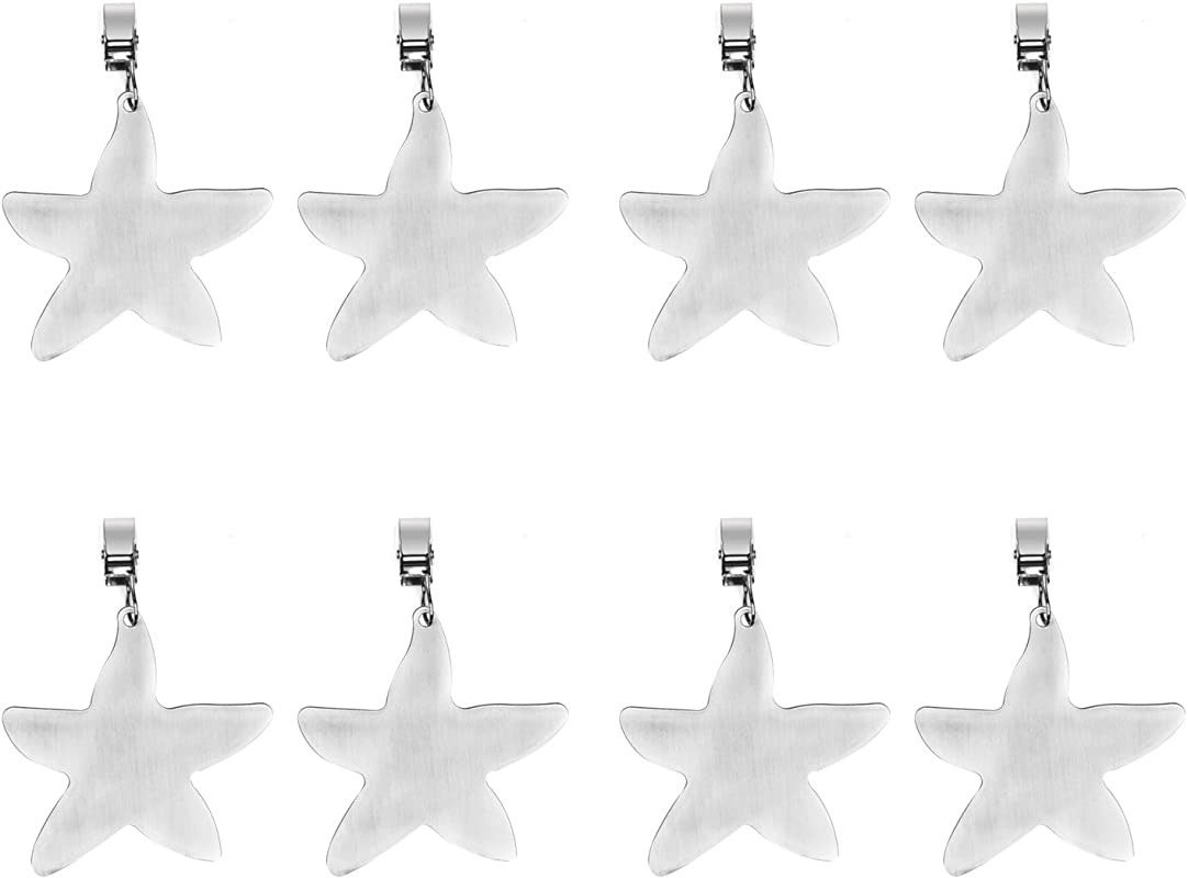 TEKEFT Set Of 8 Stainless Steel Starfish Shaped Table Cover Tablecloth Weights Starfish 4