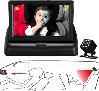 Car Baby Camera,Car Camera Baby Monitor with Wide Crystal Clear View,Night Vision,Different from Baby Car Mirror, not Need to Look Up or Look Back,and Observe The Baby's Every Move at Any Time