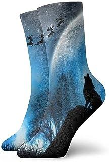 Kevin-Shop, Wolverine Moon Mountain Calcetines Tobilleros navideños Calcetines Casuales y acogedores para Hombres, Mujeres, niños