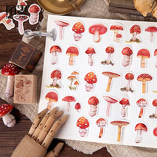 BLOUR 45 Stück/Packung Kawaii Mushroom Decorative Scrapbooking Craft Aufkleber Tagebuch Album Aufkleber Kleber