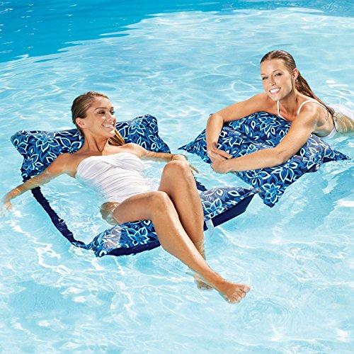 Aqua Leisure 2PK Monterey Lounge - Blue Orchid Print