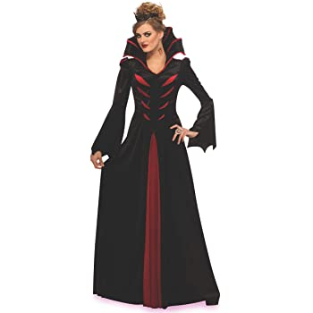 STREGA DONNA FANTASIA PARTY DRESS REGINA Gotico Vampiro Halloween Cosplay Costume