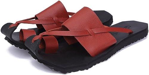 Pantoufles d'extérieur d'été de de pantoufles d'extérieur d'été de pantoufles d'intérieur de maison de pantoufles appropriées pour le printemps et l'été ( Couleur   rougedish marron , Taille   41 1 3 EU )  plus abordable