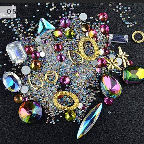 MFKW 3D Nail Art ornamenten Transparant Diamant AB Strass kristal voor boormachine sieraden klinknagels Elfe klinknagels accessoires voor nagels met Micro Flash parels