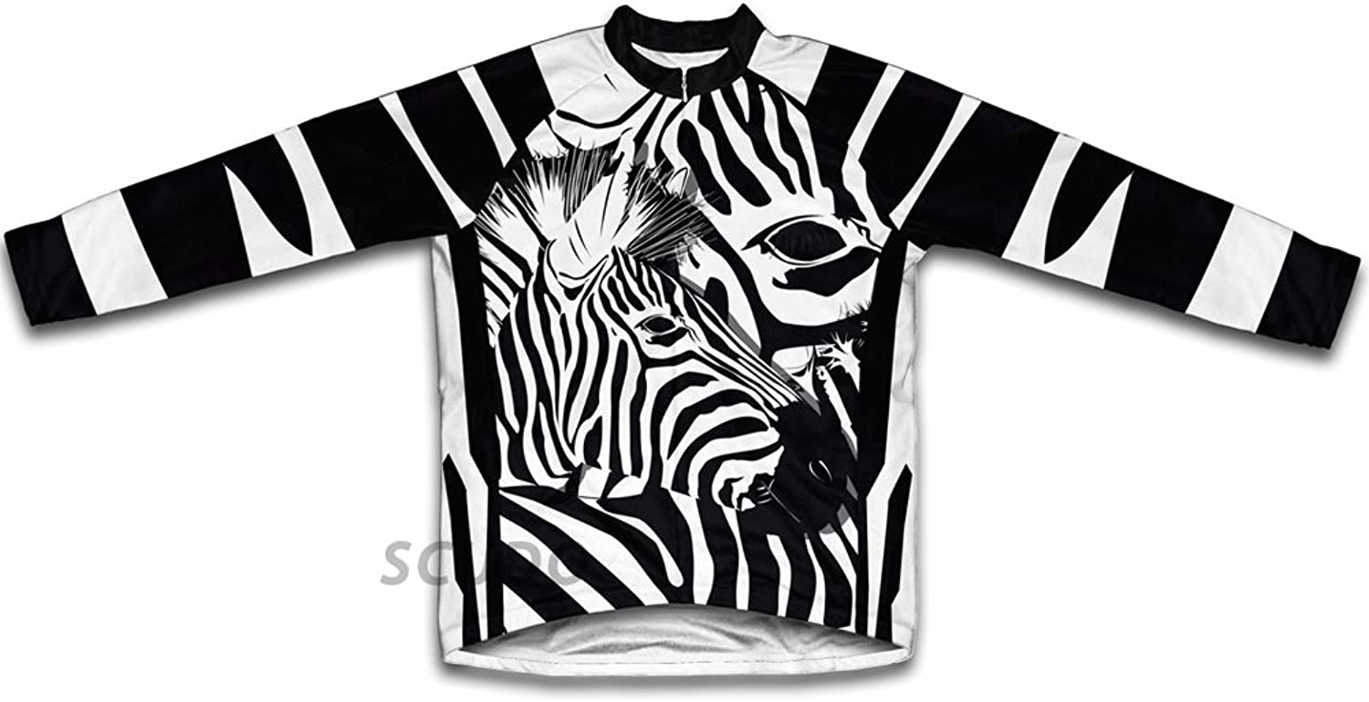 Camo Zebra Winter Thermal Cycling Jersey for Women