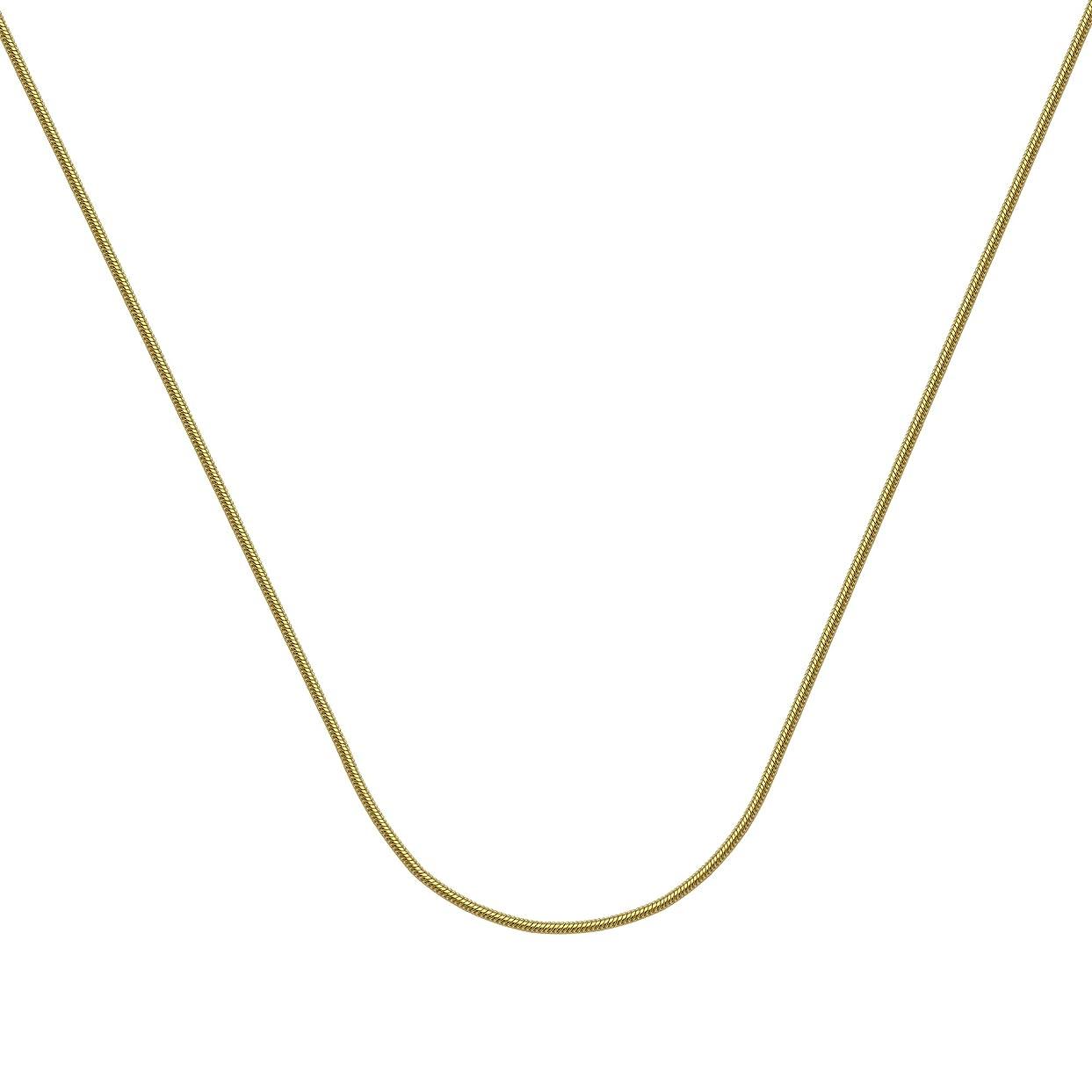 冷淡なチェリーハグスネークチェーン 14Kt ゴールドスネークチェーン ロブスターロック付き 長さ16インチ