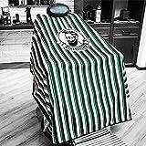 Impermeable capa de calidad de salón profesional, material ripstop ligero y protección de larga duración. Adecuado para peluquerías y salones de belleza, de larga duración y profesional. (Verde)
