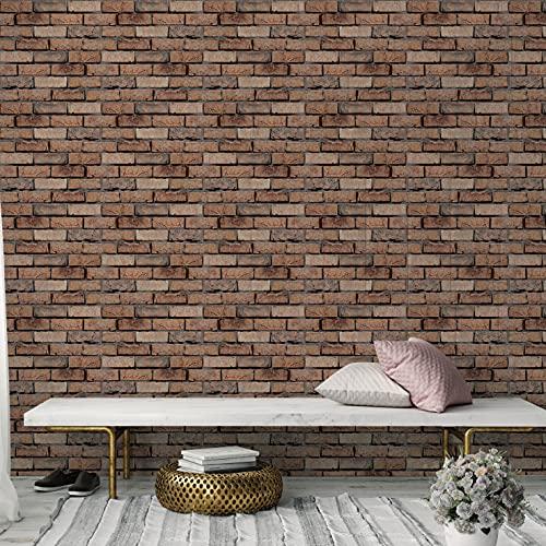 Ladrillo carmesí,5 hojas,60*60CM,Adhesivos de pared,3D,Autoadhesivo,Espuma gruesa,Impermeable,Pared de sala de estar y Dormitorio y fondo,Decoración,Decoración,Arte,Bricolaje,Decoración del hogar