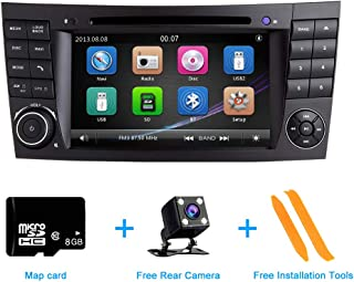 Car Radio Stereo,TOOPAI for Mercedes Benz E Classe W211 CLS W219 Double Din Head Unit 7 Inch Capacitive Multi-Touch Screen Car Stereo GPS Radio with Free Map Card Car Rear View Camera Removal Tools