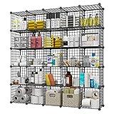 KOUSI 14'x14' Storage Cubes Wire Grid Modular Metal Cubbies Organizer...