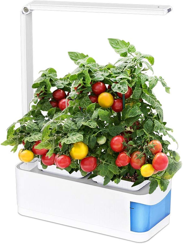 LED Pflanzenlampe Grow Light Vollspektrum, Pflanzenlampe für Hydroponik Zimmerpflanzen Blaumen und Gemüse, Pflanzenlichtkit enthlt zwei Pattern Plant Grow und Desk Lamp(Blau)