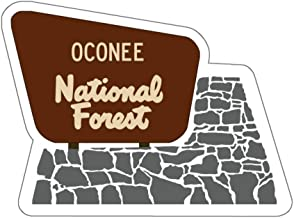 Oconee National Forest Entrance Sign Vinyl Sticker - GA Camping/Hiking Decal for Car, Laptop, and Water Bottle