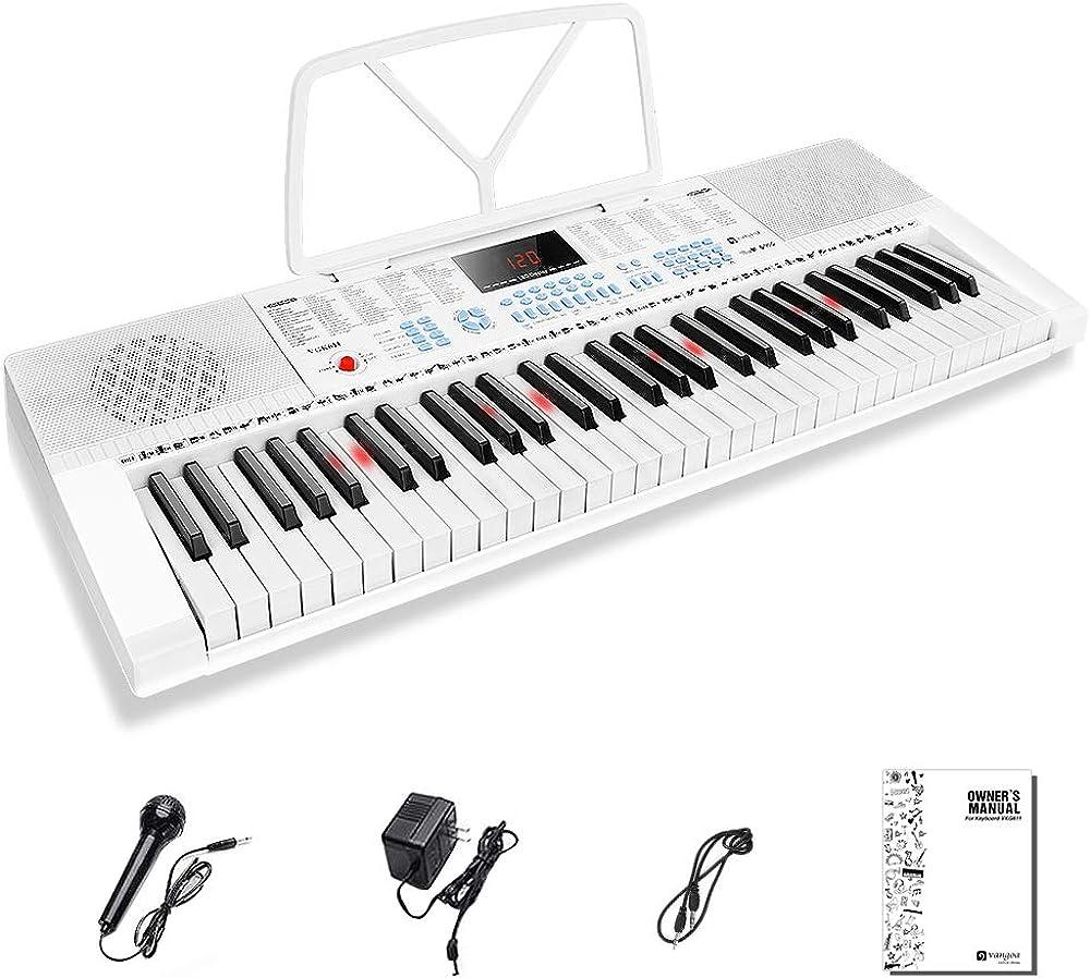 Vangoa tastiera piano elettrico 61 tasti illuminati VGK611