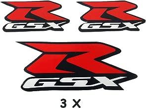 Red Gixxer Sticker Helmet Body Fairing Pipe Decal Emblem For Suzuki GSXR 600 750 1000 1300 Hayabusa