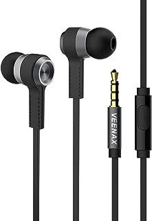 VEENAX M6 Auricolari In-Ear Cuffie, Cuffiette con Microfono e Cavo, Sportive Auricolare con Filo, Bassi+, Stereo Headset p...