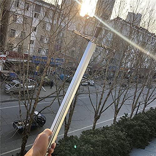 cosplay 1:1 Anime The Witcher 3: Wild Hunt Geralt de Rivia épée Loup blanc épée Arme Prop Jeu de rôle PU Modèle Jouet Prop 105cm