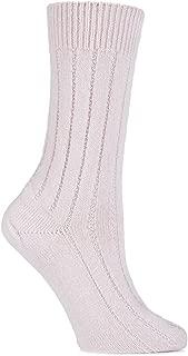 SockShop of London Ladies 1 Pair 100% Cashmere Tuckstitch Bed Socks
