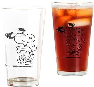 CafePress Snoopy Dancing Dog Pint Glass, 16 oz. Drinking Glass