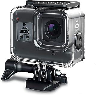 جراب FINEST+ 60 م مقاوم للماء لهاتف GoPro Hero 8 Black Diving Cover الواقي مع ملحقات قوس لـ Go Pro Hero8 Action Came المطا...