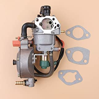 Tiempo Beixi Auto CEBADOR Doble Combustible del carburador solenoide GLP Kit de conversión de Gas Natural for Honda GX390 188F 13HP 4.5KW 5.5KW Motor generador y Motor
