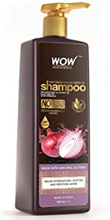 WOW Skin Science Onion Shampoo With Red Onion Seed Oil Extract, Black Seed Oil & Pro-Vitamin B5 - No Parabens, Sulphates, ...