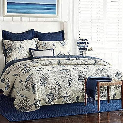 Juego de colcha acolchada, edredones de retazos, funda de cama, colchas de algodón súper suave, sábana para sala de estar, aire acondicionado multiusos, sofá, manta con 2 fundas de almohada, 230 * 250