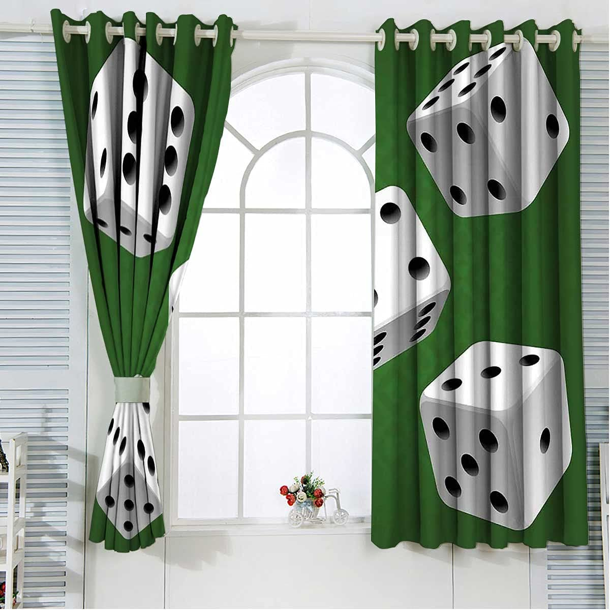 Kitchen Window Curtains Max 84% OFF 63 Inches Se Casino Dice Rolling Length 1 year warranty