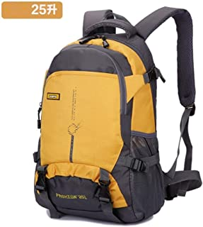 SP-Xhz Mountain Climbing Equipment Outdoor Supplies Backpack Men and Women Lightweight Large Capacity Leisure Practical Mountaineering Bag (Color : Yellow, Size : 25L)