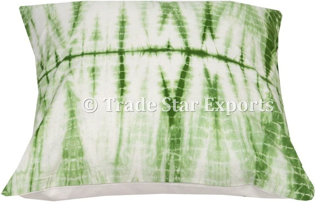 Amazon Com Trade Star Exports Shibori Cushion Cover 16x16 Tie Dye Pillow Case Cotton Square Pillow Cover Home Decor Cushion Indian Ethnic Pillows For Living Room Decorative Cushion For Sofa Pattern2 Home