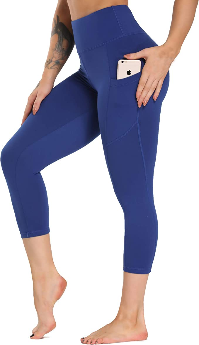 SILIK Yoga Pants High Waisted Workout Leggings with Pockets Printed Non See-Through Leggings for Women