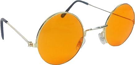 Bristol Novelty BA222 Lennon Glasses Orange, One Size