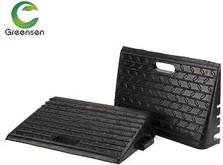 Zoternen 2 x Rampas de Goma para Trabajo Pesado para Sillas de Ruedas para Autocaravanas Discapacitadas 48.5X30X9.5cm