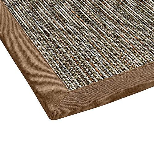 BODENMEISTER Sisal-Optik In- und Outdoor-Teppich Flachgewebe modern hochwertige Bordüre, verschiedene Farben und Größen, Variante: braun beige natur, 60x110