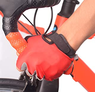 Half Finger Mountain Bike/MTB Glove, Gel Pad Cycling Gloves, Road Biking Bicycle Gear, Bicycling Cycle Riding Accessory for Men/Women – Breathable and Easy on Easy Off