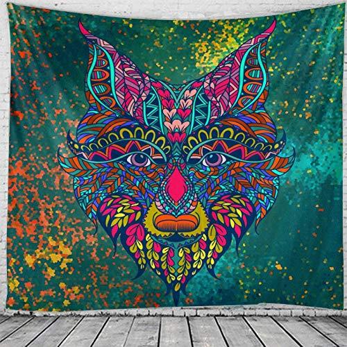 Tapiz de tigre indio mandala hippie tapiz de encaje colgante de pared bohemio psicodélico brujería tapiz tela de fondo A1 180x200cm