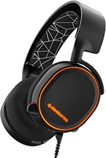 SteelSeries Arctis 5 (Edición Legado) - Auriculares para juego, Iluminación RGB, DTS 7.1 Surround para PC, PC, Mac, PlayStation 4, Móvil, VR, color Negro
