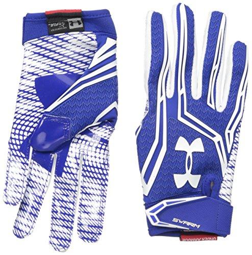 Under Armour Men's Swarm II Football Receiver Gloves, Black/White,...