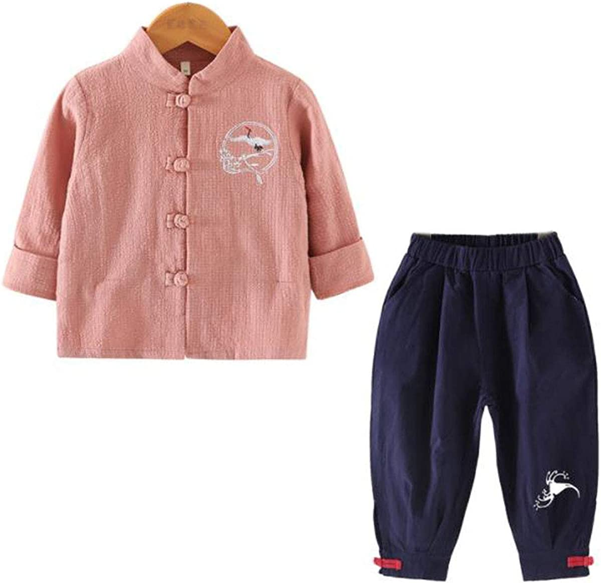 WenWen Little online shop Boy's Chinese Cranes Pants Printed Clo Shirt Harem Complete Free Shipping