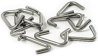 10x Krampen 8mm für Seil Durchmesser 7-8mm Edelstahl, Würgeklemme, Klemme, Zangen-öse, Gummiseil, Gummileine, Festmacher, Festmacherleine