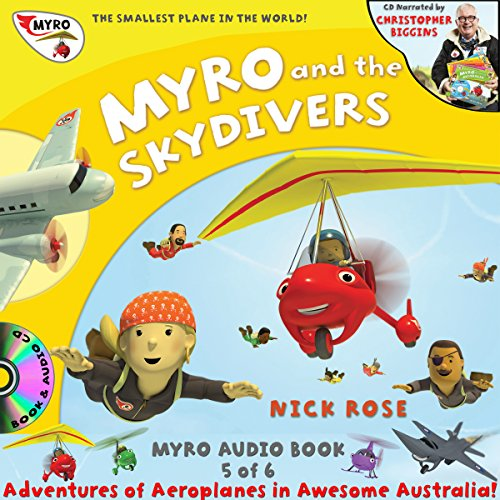 Myro and the Skydivers audiobook cover art