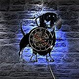 KEC Reloj de Pared de decoración del hogar I Love, Tienda de Sastre, Reloj de Pared Acolchado, máquina de Coser, Reloj de Registro de Vinilo, Reloj de Regalo de costurera