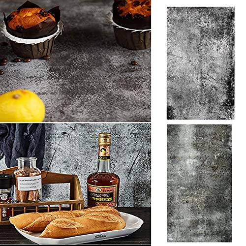 Fotohintergrund,2 In 1 Food Flatlay Tabletop-Fotografie,57x87cm Holz Desktop Fotografie,Flatlay Hintergrund,Doppelseitiger Hintergrund...
